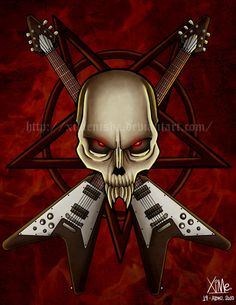 Cool Heavy Metal | Calavera metal by ~XimeniSHA on deviantART