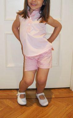 La pequeña aprendiz: Camisa y Pantalón Rosa Veranda