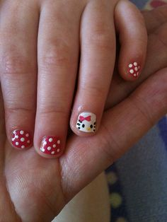 Yahoo - login - - Yahoo – login nails Little Miss Hello Kitty Nails Baby Girl Nails, Little Girl Nails, Girls Nails, Girls Nail Designs, Red Nail Designs, Fingernail Designs, Nail Art For Kids, Hello Kitty Nails, Nail Designs