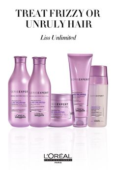 To treat frizzy or unruly hair, use products from the Serie Expert Liss Unlimited line.