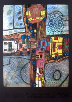The Crossroad   Painting by Hundertwasser