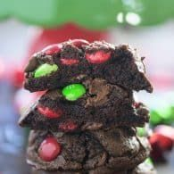 These Double Chocolate Chip Cookies Are All Dressed Up For Christmas