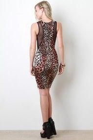 Leopard Printed Mesh Dress #Urbanog