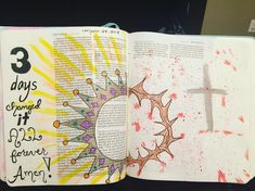 #biblejournaling #helives #easter2018 Easter 2018, My Bible, Bullet Journal, Day, Journaling, Instagram, Caro Diario