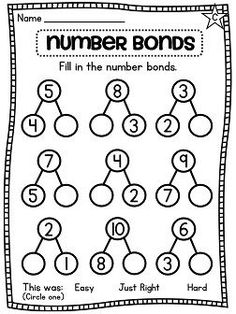 First Grade Math Unit Number Sense, Part Part Whole, Number Bonds, and more! Everything you need to teach number bonds and other number sense concepts in first grade or kindergarten! Preschool Math, Math Classroom, Kindergarten Math, Teaching Math, Math Activities, Math Games, Number Bonds Worksheets, 1st Grade Math Worksheets, Second Grade Math