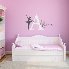 Personalized Name and Ballerina Decal Set  by StephenEdwardGraphic