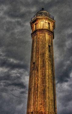 Alcatraz Lighthouse    The lighthouse on Alcatraz Island.