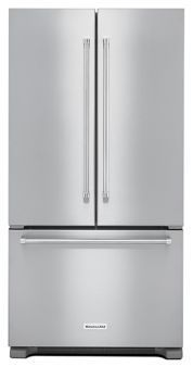 Learn about features and specifications for the 22 cu. ft. 36-Inch Width Counter Depth French Door Refrigerator with Interior Dispense (KRFC302EBS)