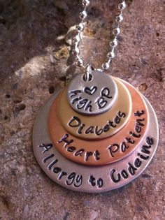 Medical Alert ID necklace customized with your by MamaDramaJewelry, $38.00