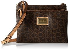 Calvin Klein LogoCrossbody Bag BrownKhakiCamel One Size ** Read more reviews of the product by visiting the link on the image.
