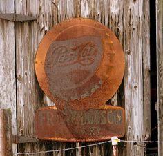 Old Pepsi Cola Metal Sign
