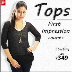 Tops Starting at ₹349 Shop now ->http://bit.ly/1b0nZ6M