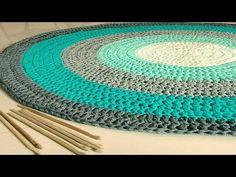 Alfombras Redondas Tejidas a Crochet o Ganchillo ( Diseños e ideas ) - YouTube