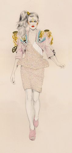 Drawing inspired by Manish Arora