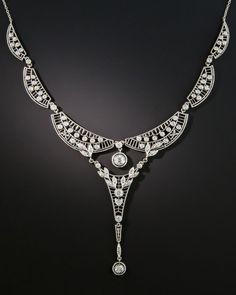 4daa9f5955fe AN EDWARDIAN PLATINUM AND DIAMOND NECKLACE. Turquoise Jewelry