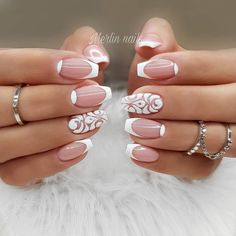 The advantage of the gel is that it allows you to enjoy your French manicure for a long time. There are four different ways to make a French manicure on gel nails. The choice depends on the experience of the nail stylist… Continue Reading → Shellac Nail Designs, French Tip Nail Designs, Cute Summer Nail Designs, Cute Summer Nails, French Tip Nails, Cute Nails, Nail Art Designs, Trendy Nails, Nails Design