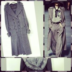 Just in! Louis Vuitton long tweed runway coat w/fur collar sz XS... #louisvuitton #fashion #couture #marcjacobs #consignment #tribeca #statenisland - @resaleriches- #webstagram
