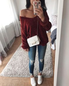 Trendy And Simple Outfits For Spring 2019 Basic Outfits, Simple Outfits, Casual Outfits, Cute Outfits, Fashion Outfits, Fall Winter Outfits, Spring Outfits, Christmas Eve Outfit, Comfortable Winter Outfits