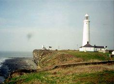 Nash Point lighthouse, Vale of Glamorgan, Wales, UK