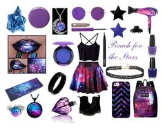 """""""Reach for the Stars!!!"""" by alexisjade485 ❤ liked on Polyvore featuring Dr. Martens, JanSport, Thierry Mugler, Eva NYC, Miss Selfridge, Casetify, Balmain, OPI, Urban Decay and Diesel"""
