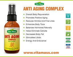 Introducing Vita Mass® Anti Aging Complex Fast Acting Oral Spray An Extraordinary And Revolutionary Homeopathic Formula With DHEA, Pregnenolone, HGH, IGF-1, DNA/RNA, Progesterone And Plus Other Premium Ingredients.