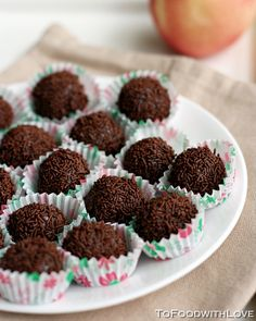 To Food with Love: Brigadeiros (Brazillian Choc Fudge Balls)