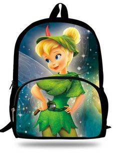 fe4fe1ac2d 16-inch Mochila Escolar Teenage Girls Bags Children Backpack Tinker Bell  Fairies Print Age 7-13 Gift Kids School Bags