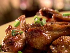 Sweet and Spicy Sticky Wings from FoodNetwork.com the Neelys