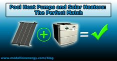 Pool Heat Pumps and Solar Heaters: The Perfect Match -With the incorporation of a pool heat pump, cloudy days and summer nights no longer means closing time for your swimming pool. While both heat sources alternate, the window of opportunity for your pool's water temperature to drop reduces significantly, which means less wear and tear and a reduced strain on the units. http://www.medallionenergy.com/all-about-pool-heaters/pool-heat-pumps-and-solar-heaters-the-perfect-match/