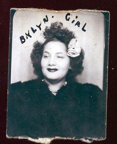 Brooklyn NY Girl vintage photobooth image
