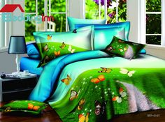 Delicate butterfly print duvet cover set Buy link>>>http://urlend.com/qUVZ7bF Live a better life, start with Beddinginn  http://www.beddinginn.com/product/New-Arrivals-Romantic-Colorful-Butterfly-4-Pieces-Bedding-Sets-10561209.html
