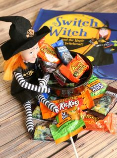 The Switch Witch  - Have the kids give their candy to the Switch Witch for a new toy/book instead! #AcornFallBox AD.