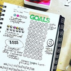 """""""@reson8ed #gettoworkbook goal track pages are the coolest!! thank you sharing, so inspiring! """" Notebooks, Journals, Photo Instagram, Instagram Posts, Goal Tracking, Journal Ideas, Planners, Bullet Journal, Goals"""