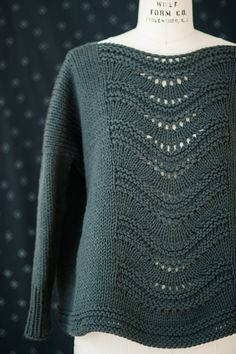 gabrielle pullover by leila raabe / in quince & co osprey, color smoke