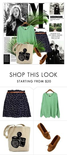 """""""Autumn<3"""" by audryhg ❤ liked on Polyvore featuring La Femme, MANGO, Madewell, Magdalena, floral skirts, polka dots, mint green, floral print and moccasins"""