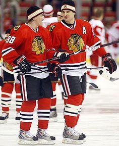 Patrick Kane and Patrick Sharp.. love the hawks!