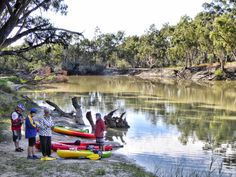 Taking a break at the lovely Causeway Campground, by the Stone Weir on Katarapko Creek, after paddling from Lock 4.  So nice to get a bit of exercise in the fresh air.  Katarapko Creek, is a great overnight canoe-camping trip.  Canoe Adventures - Riverland can supply most of your kayak camping needs.