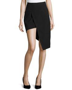 W05CG Mugler High-Waisted Asymmetric Skirt