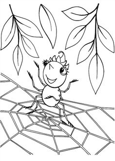 Spider coloring page - Animals Town - animals color sheet - Spider printable coloring Spider Coloring Page, Leaf Coloring Page, Puppy Coloring Pages, Halloween Coloring Pages, Online Coloring Pages, Coloring Pages For Girls, Coloring Pages To Print, Coloring For Kids, Printable Coloring Pages