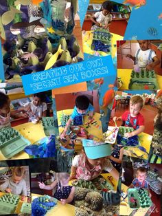 """""""Secret sea boxes"""" a great activity for children with an enclosure schema."""