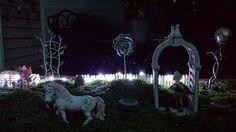 Maya's Fairy Garden at night.