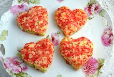 White Chocolate Champagne Scones with Champagne Rose Icing