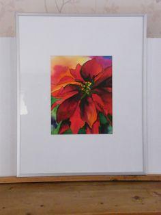kerstster in ecoline en Oost-Indische inkt. afm. 40x 60. incl. aluminium lijst te koop voor 95 euro.