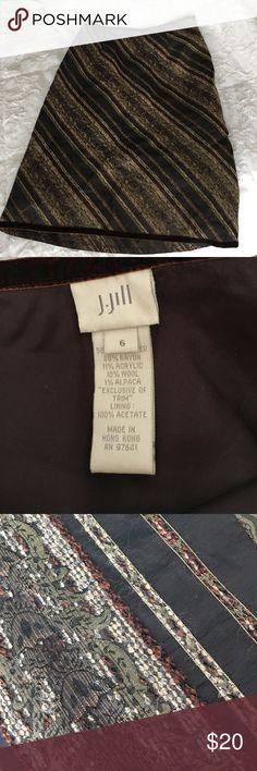 """J Jill luxury skirt Beautiful embroidered skirt 24"""". Velvet trim. J Jill Skirts Midi"""