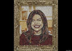 Food-inspired celebrity portraits: Rachael Ray in Pasta