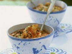 Italienische Tomaten-Brot-Suppe mit Garnelen ist ein Rezept mit frischen Zutaten aus der Kategorie Suppen. Probieren Sie dieses und weitere Rezepte von EAT SMARTER!