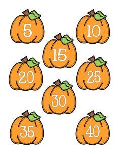 Fall Math Centers for Kindergarten or First Grade