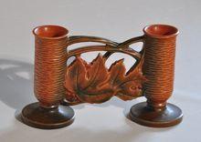 "DATE: 1932 -1948, MFG.: Roseville Pottery Co. , PATTERN: Bushberry , DIM: 4 3/4""H x 8""W"