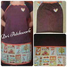 Avental de patchwork. #avental #patchwork #costura