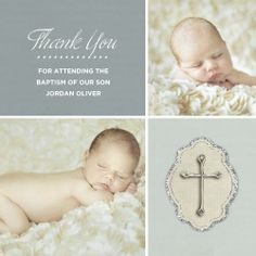 baptism thank you photo cards